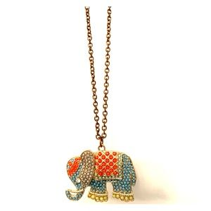 Boutique elephant  adjustable drop necklace